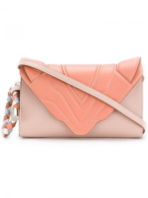 Сумка через плечо Felina M Elena Ghisellini. Цвет: розовый и фиолетовый