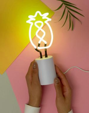 Sunnylife Неоновый светильник в виде ананаса. Цвет: мульти