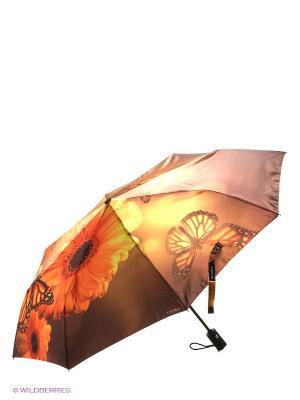 Зонт Flioraj. Цвет: коричневый, желтый