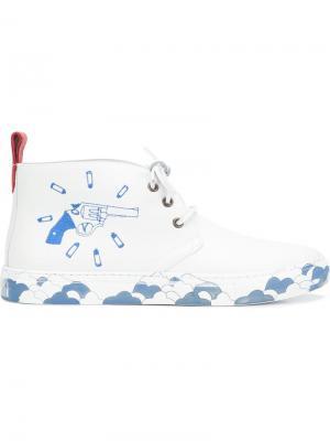 Хайтопы Chukka x Eduardo Sarabia Del Toro Shoes. Цвет: белый