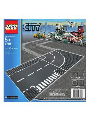 Игрушка Город Т-образная развязка,номер модели 7281 LEGO. Цвет: серый (осн.), белый
