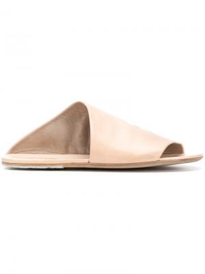 Асимметричные сандалии Marsèll. Цвет: телесный