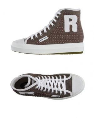Высокие кеды и кроссовки RUCO LINE. Цвет: хаки