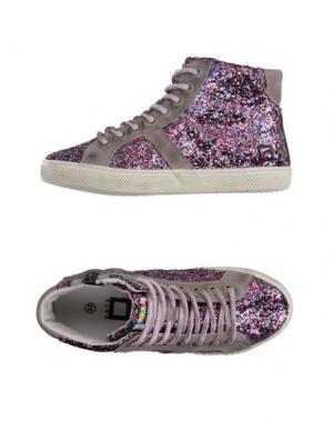 Высокие кеды и кроссовки D.A.T.E. KIDS. Цвет: фуксия