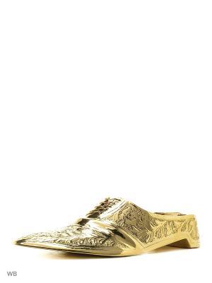 Пепельница Башмак латунь резная ETHNIC CHIC. Цвет: золотистый