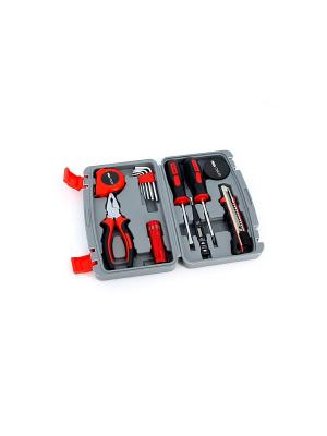 Набор  из 13 инструментов в пластиковом кейсе Stinger. Цвет: черный, серый, красный