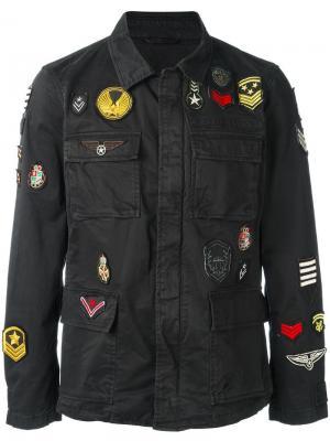 Куртка в стиле милитари John Varvatos. Цвет: чёрный