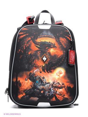Рюкзак STERNBAUER. Цвет: черный, красный, оранжевый