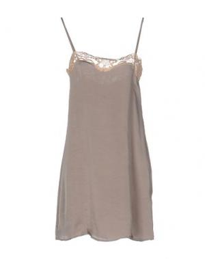 Короткое платье GUARDAROBA by ANIYE. Цвет: голубиный серый