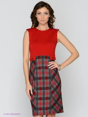 Сарафан T&M. Цвет: красный, серый