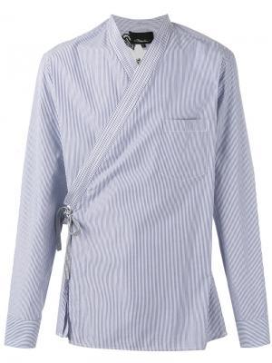 Рубашка в полоску с цветочным принтом 3.1 Phillip Lim. Цвет: синий