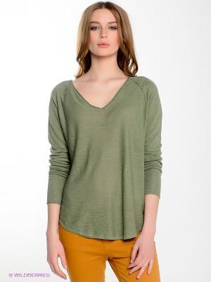 Пуловер Yerse. Цвет: темно-зеленый