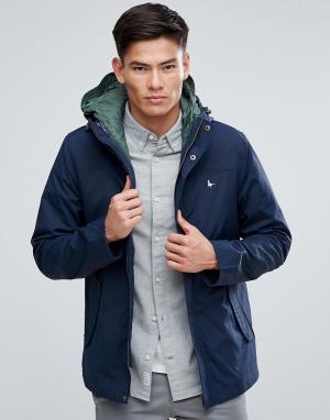 Jack Wills Темно-синяя куртка 2-в-1 со стеганым жилетом Bowfell. Цвет: темно-синий