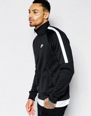 Nike Черная спортивная куртка Tribute 678626-010. Цвет: черный