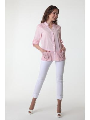 Блуза DizzyWay. Цвет: розовый