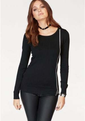 Пуловер MELROSE. Цвет: голубой, черный
