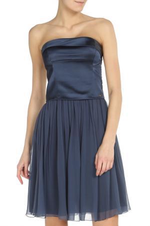 Короткое приталенное платье-бандо Ice Iceberg. Цвет: синий