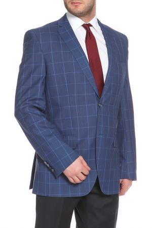 Пиджак Slava Zaitsev. Цвет: синий, голубая клетка