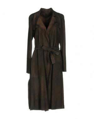 Легкое пальто SALVATORE SANTORO. Цвет: темно-коричневый