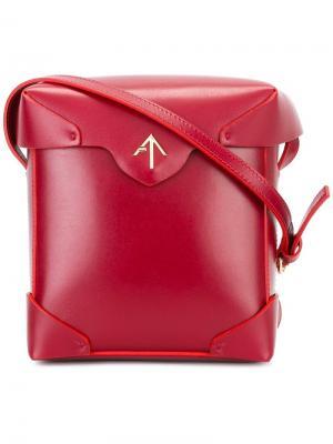 Сумка через плечо с откидным верхом Manu Atelier. Цвет: красный