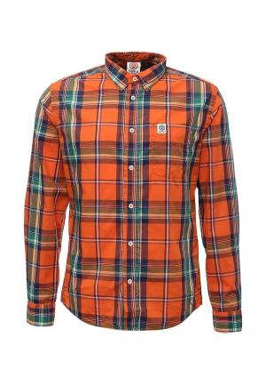 Рубашка Franklin & Marshall. Цвет: оранжевый