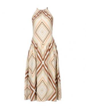 Длинное платье VALENTINO. Цвет: коричневый