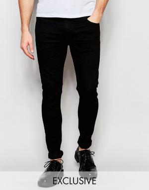 D.I.E Черные супероблегающие джинсы . Storm. Цвет: черный