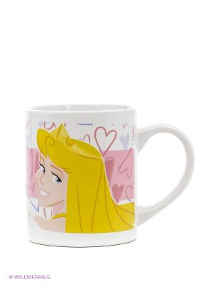 Кружка керамическая в подарочной упаковке. Принцессы Stor. Цвет: розовый, желтый, белый