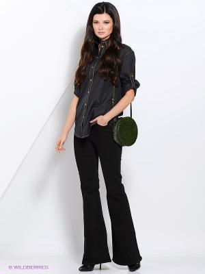 Рубашка RUXARA. Цвет: черный