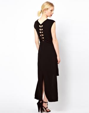 Sophia Kokosalaki Платье‑рубашка с узелками на спине Kore by. Цвет: черный