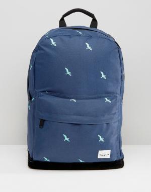 Spiral Темно-синий рюкзак с птицами. Цвет: темно-синий