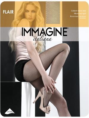 Колготки в сеточку Immagine. Цвет: бежевый