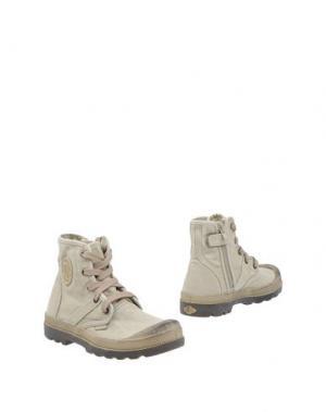Полусапоги и высокие ботинки PALLADIUM. Цвет: бежевый