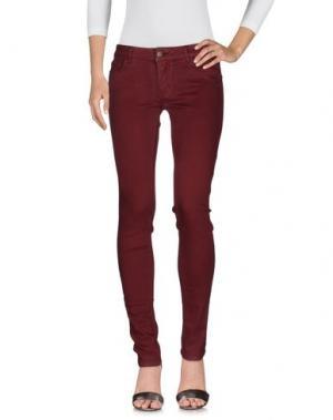 Джинсовые брюки MAJE. Цвет: красно-коричневый