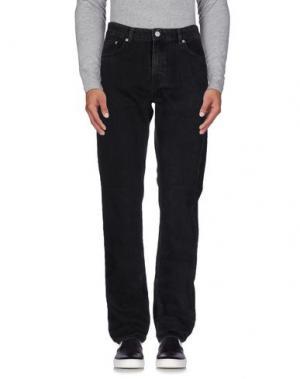 Джинсовые брюки WOOD. Цвет: черный