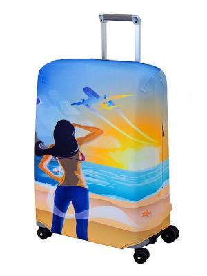 Чехол для чемодана  Hellow Yellow M/L Coverway. Цвет: желтый