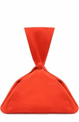 Сумка из замши Isa Arfen. Цвет: оранжевый