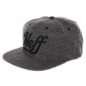 Бейсболка с прямым козырьком  Nephew Cap Black Neff. Цвет: серый