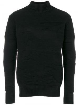 Джемпер с отворотной горловиной Polygon S.N.S. Herning. Цвет: чёрный