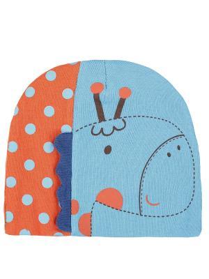 Шапка детская Жираф Оланж Ассорти. Цвет: голубой
