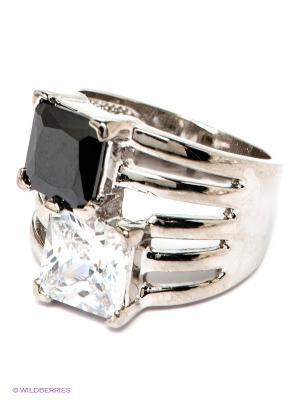 Кольцо Krikos. Цвет: серебристый, прозрачный, черный