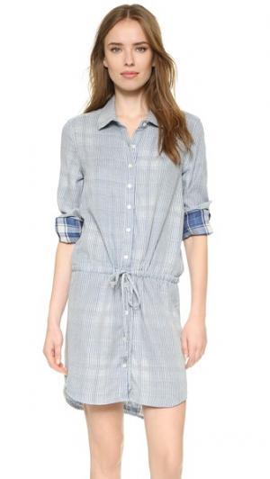 Платье на завязках Felicite. Цвет: темно-синяя полоска