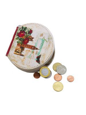 Кошелек для монет Кажан. Цвет: белый