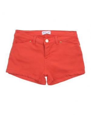 Джинсовые шорты PINKO UP. Цвет: красный