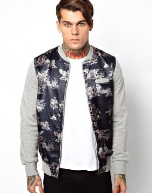 Куртка-пилот Cuckoos Nest. Цвет: серый