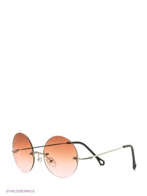 Солнцезащитные очки Vita pelle. Цвет: коричневый, розовый