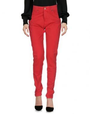 Повседневные брюки LES FILLES. Цвет: красный