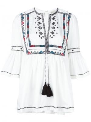 Блузка с вышивкой Talitha. Цвет: белый