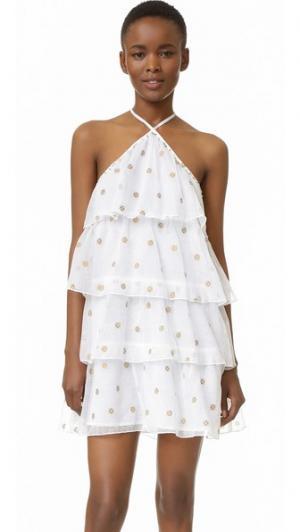 Платье Estrella St. Roche. Цвет: белый золотистый комбо