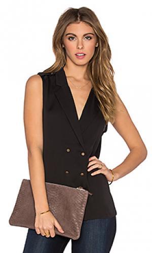 Блуза в цветах милитари LAcademie L'Academie. Цвет: черный